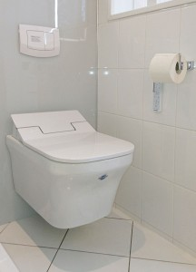Dusch-WC: Duravit P3Comforts Senso Wash Rimless